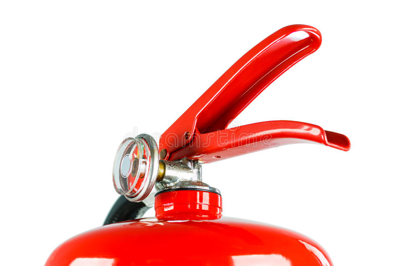 Chemisch die brandblusapparaat, met het knippen van weg wordt geïsoleerd royalty-vrije stock foto's