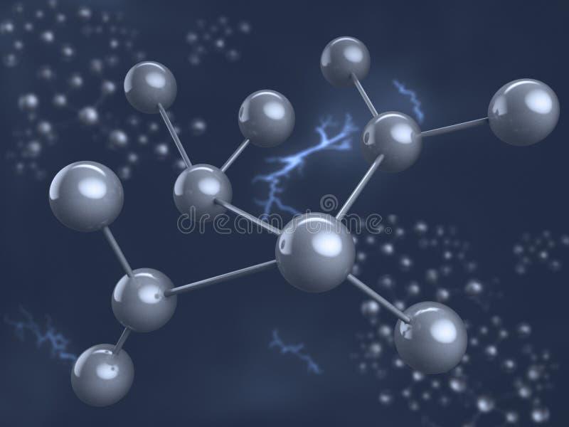 Chemisch element. Molecule. royalty-vrije illustratie