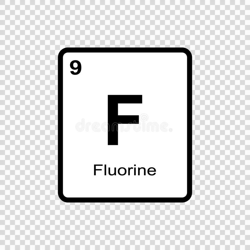 chemisch elementenfluor stock illustratie