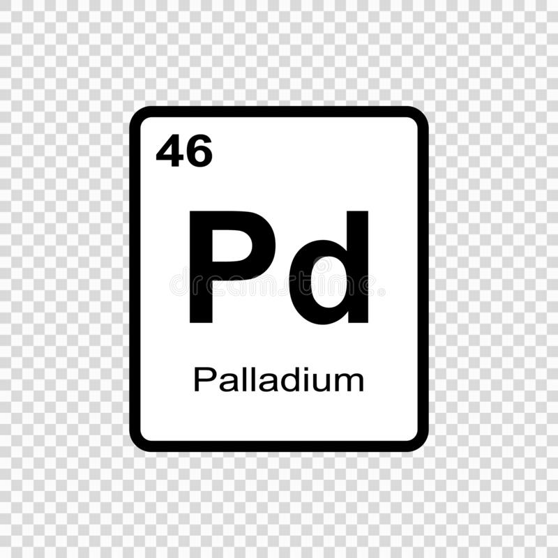 chemisch elementenpalladium stock illustratie