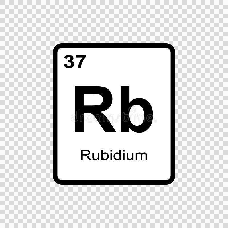 chemisch elementenrubidium stock illustratie