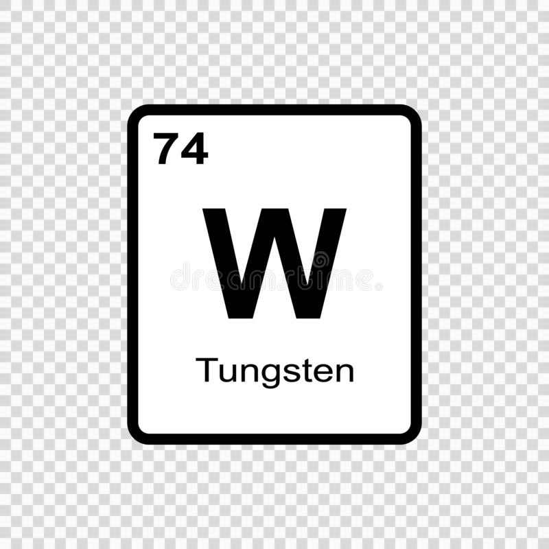 chemisch elementenwolfram vector illustratie