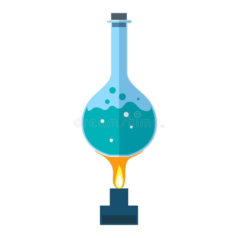 Chemisch flespictogram stock illustratie