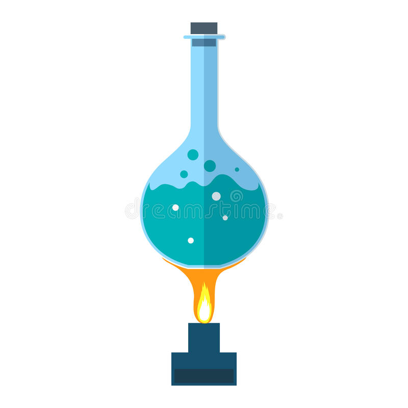 Chemisch flespictogram royalty-vrije illustratie