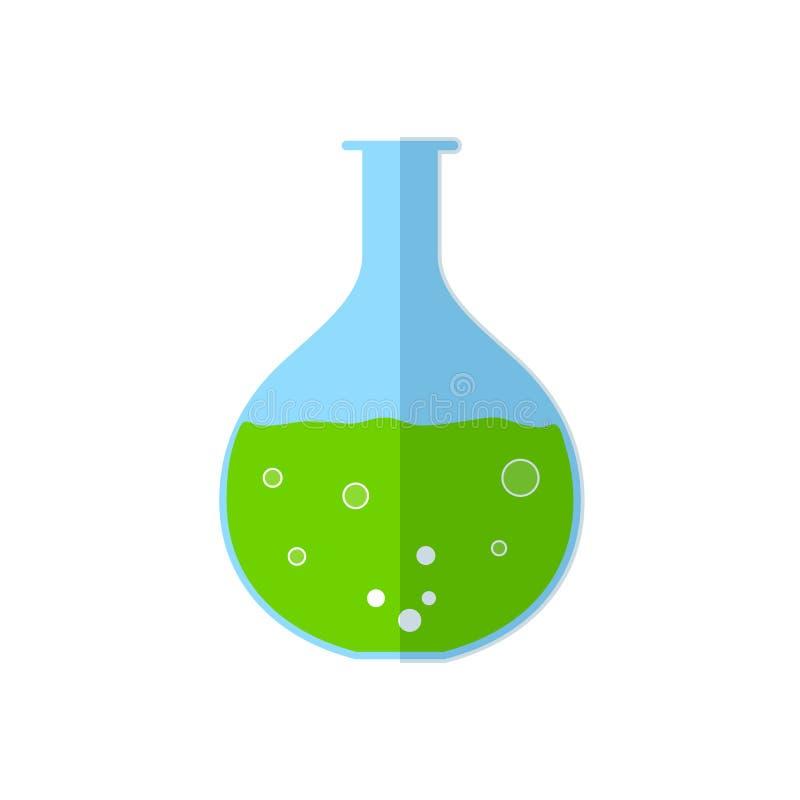 Chemisch flespictogram vector illustratie