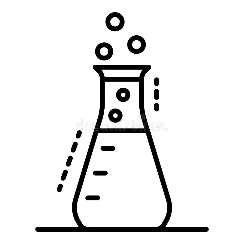 Chemisch flespictogram, overzichtsstijl stock illustratie