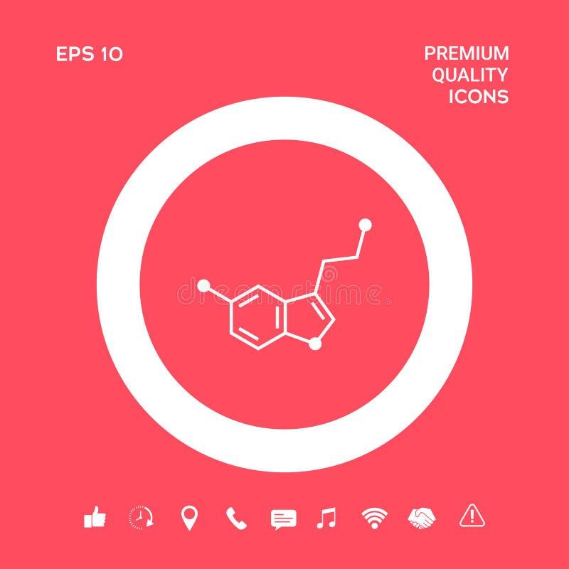 Chemisch formulepictogram serotonine Grafische elementen voor uw ontwerp vector illustratie