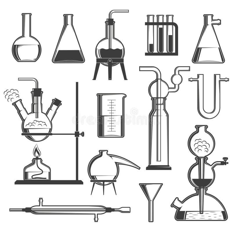 Chemisch glaswerk royalty-vrije illustratie