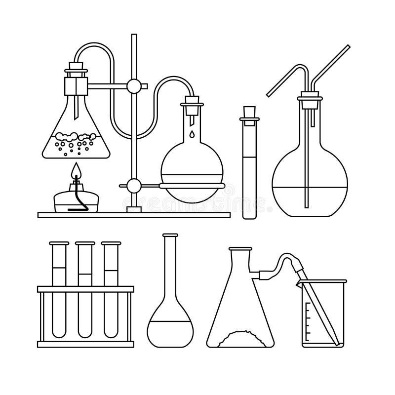 Chemisch glaswerkpictogram royalty-vrije illustratie