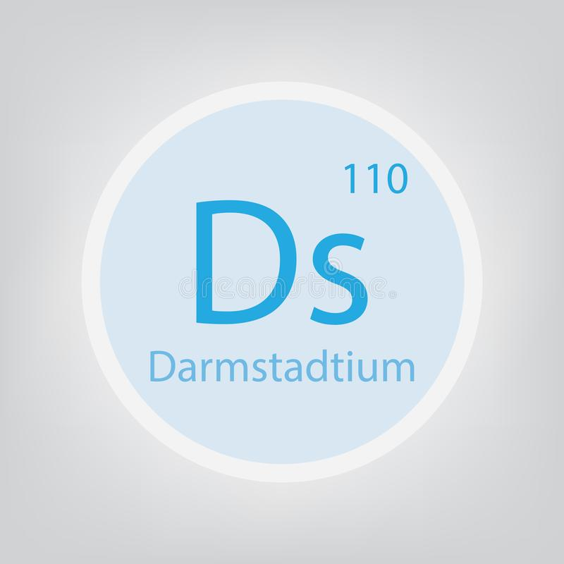 Chemisch het elementenpictogram van Darmstadtiumds royalty-vrije illustratie