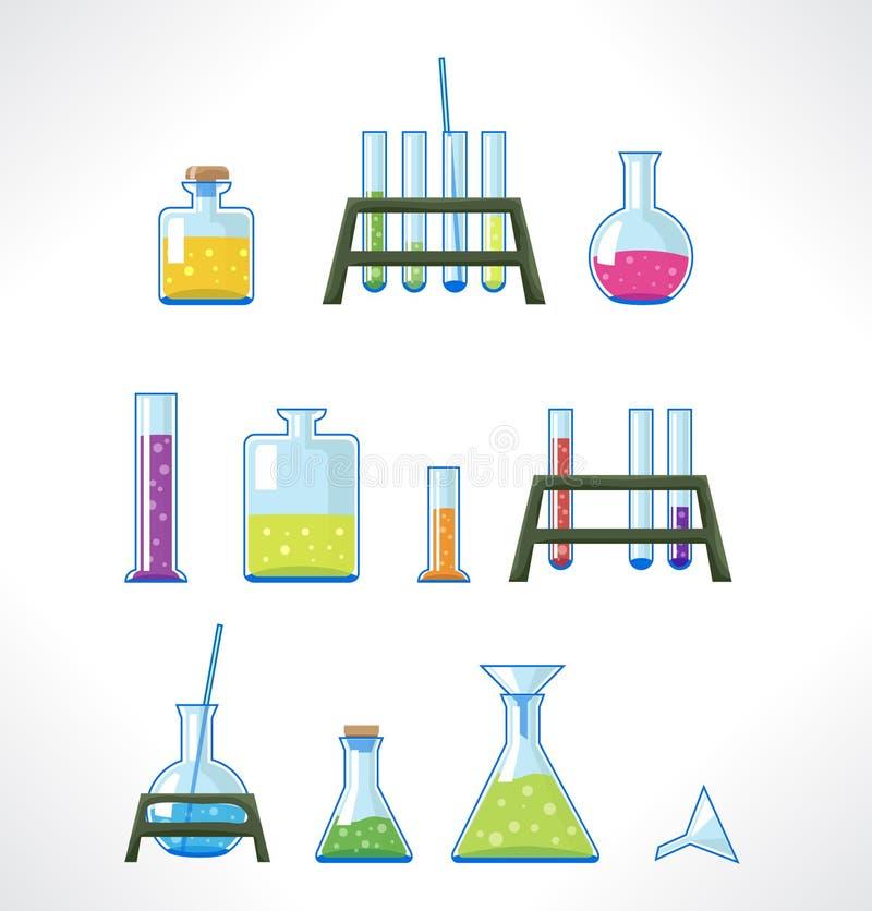 Chemisch laboratorium vector illustratie