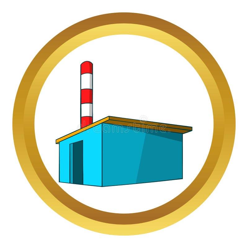 Chemisch pakhuis vectorpictogram stock illustratie