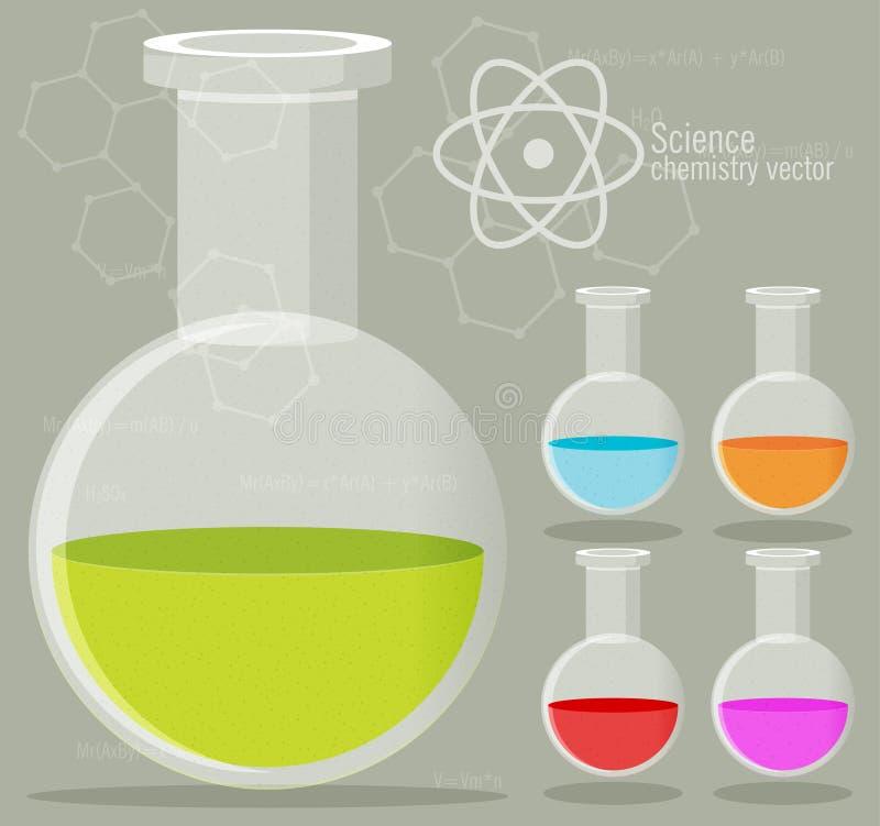 Chemisch Pictogram met achtergrond royalty-vrije illustratie