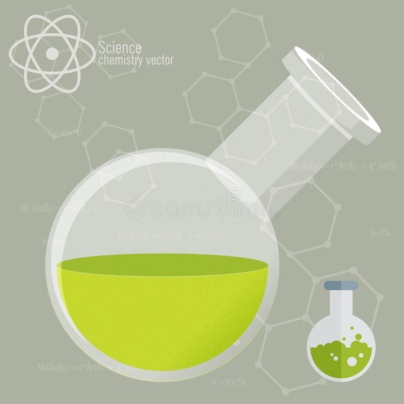 Chemisch Pictogram met achtergrond stock illustratie