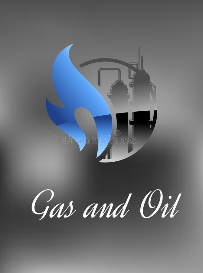 Chemisch product en gasfabriek stock illustratie