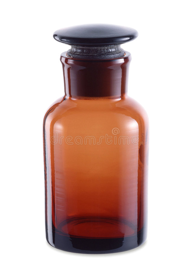 Chemisch product fles-1 stock foto