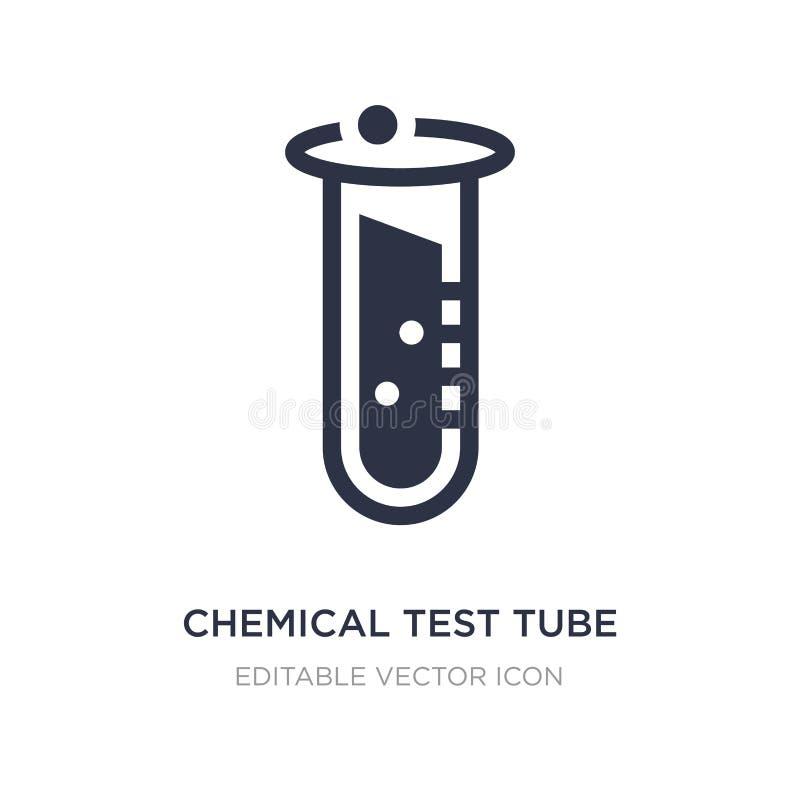chemisch reageerbuispictogram op witte achtergrond Eenvoudige elementenillustratie van Onderwijsconcept royalty-vrije illustratie