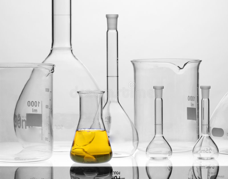 Chemische apparatuur stock afbeelding