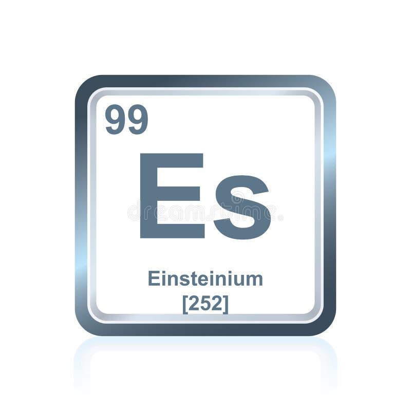 Chemische elementeneinsteinium van de Periodieke Lijst royalty-vrije illustratie