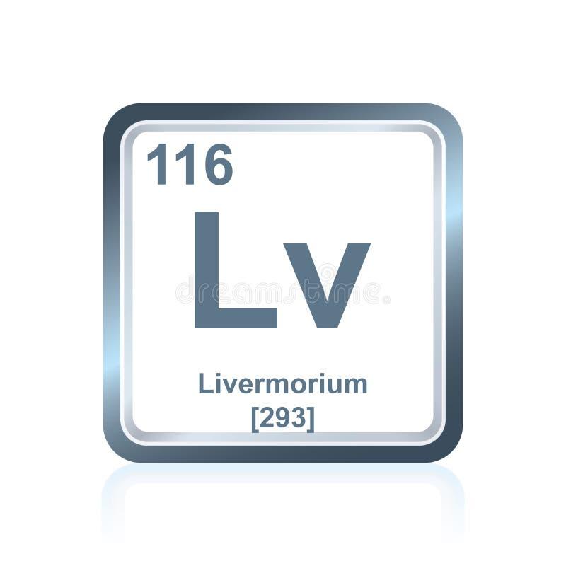 Chemische elementenlivermorium van de Periodieke Lijst stock illustratie