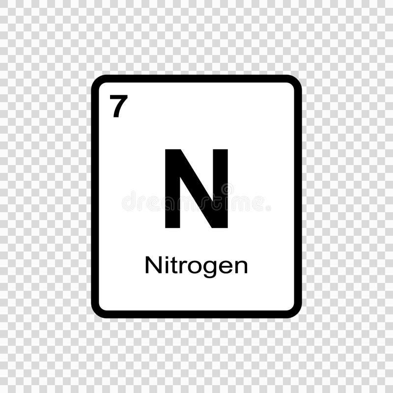 chemische elementenstikstof vector illustratie