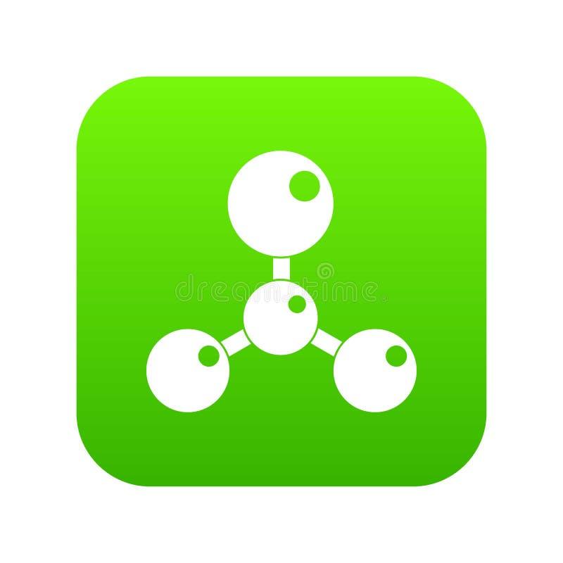 Download Chemische En Fysieke Digitale Groen Van Het Moleculespictogram Vector Illustratie - Illustratie bestaande uit micro, chemisch: 114225325