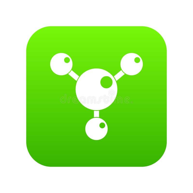 Download Chemische En Fysieke Digitale Groen Van Het Moleculespictogram Vector Illustratie - Illustratie bestaande uit groen, geïsoleerd: 114225713