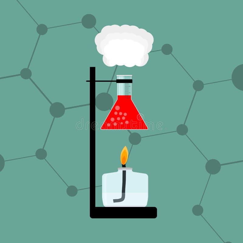 Chemische Erfahrung Reagensheizung lizenzfreie abbildung