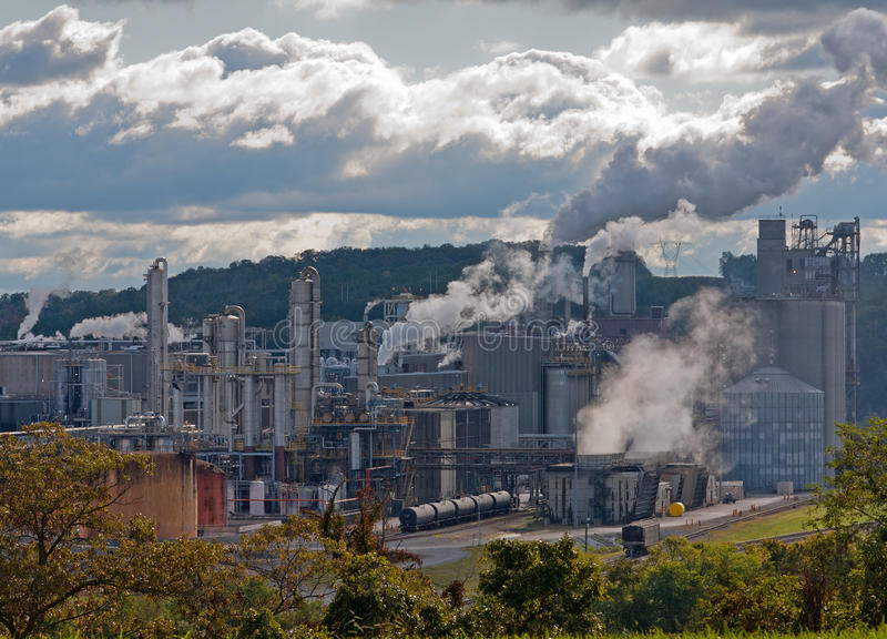 Chemische Fabriek stock foto