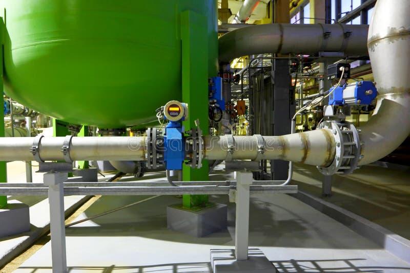 Chemische Fabrik stockfotografie
