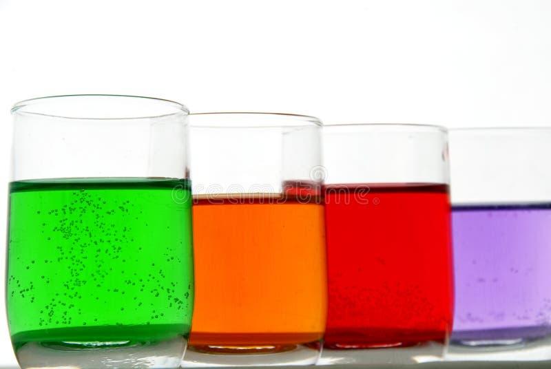 Chemische Flüssigkeiten stockbild