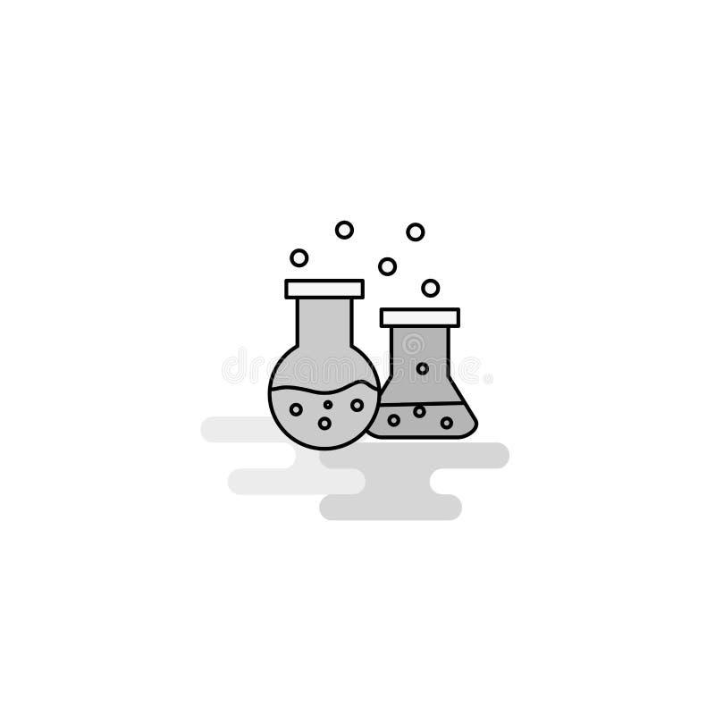 Chemische Flasche Netz-Ikone Flache Linie füllte Gray Icon Vector stock abbildung