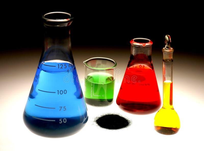 Chemische Flessen royalty-vrije stock afbeelding