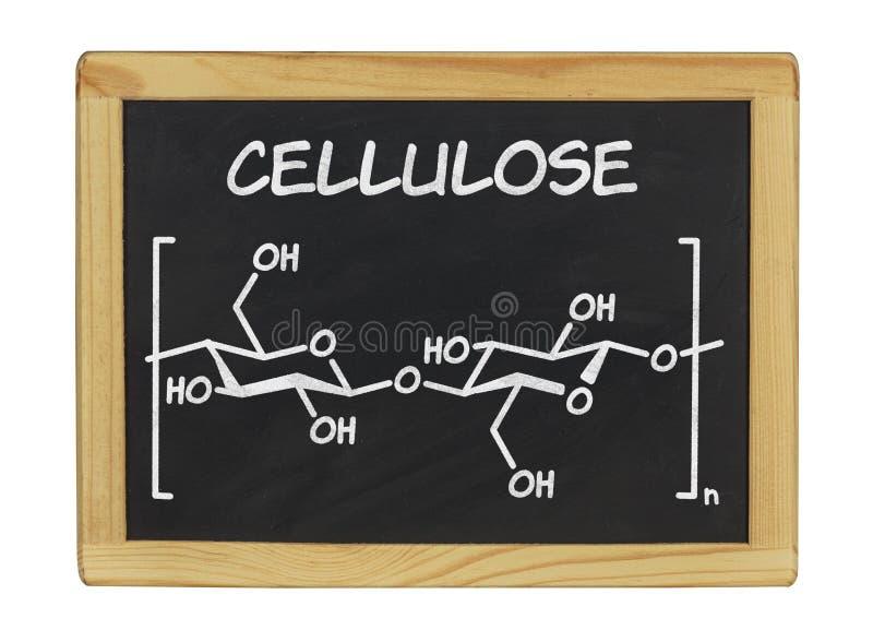 Chemische Formel von Zellulose lizenzfreies stockbild