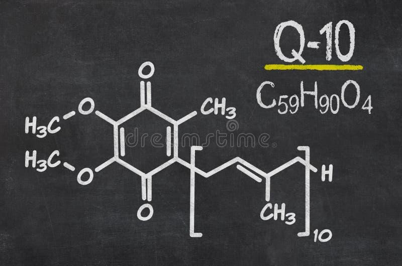 Chemische formule van coenzyme q10 royalty-vrije illustratie