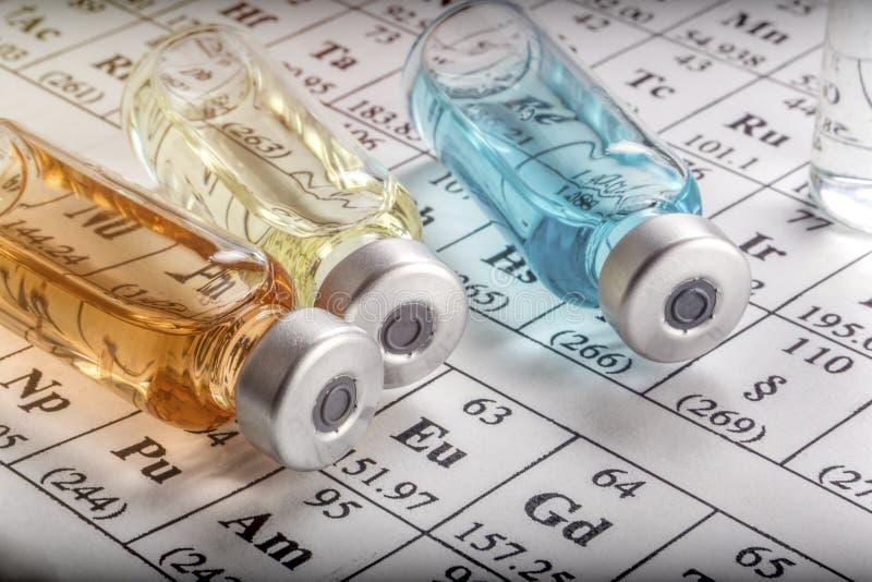 Chemische formulering en geneesmiddelen stock foto