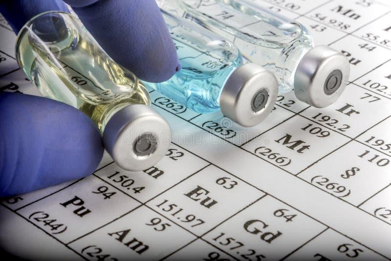 Chemische formulering en geneesmiddelen stock foto's