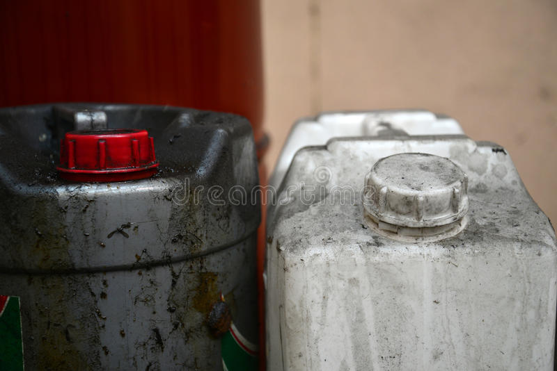 Chemische Gallone lizenzfreie stockfotos