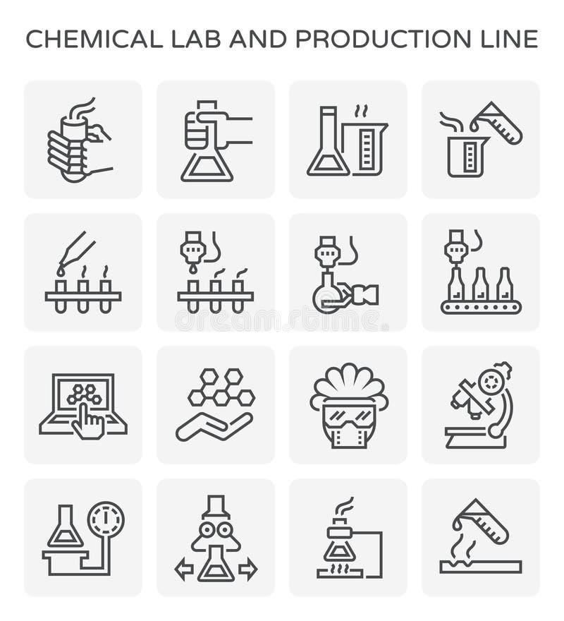 Chemische Laborikone lizenzfreie abbildung