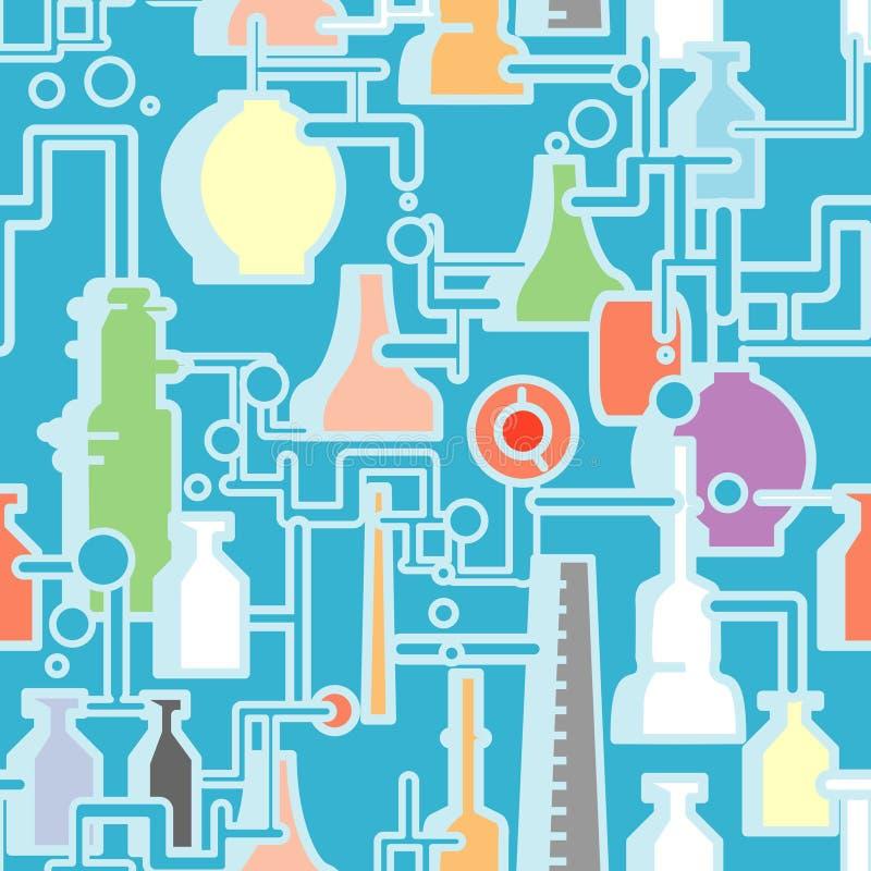 Chemische naadloze installatie vector illustratie
