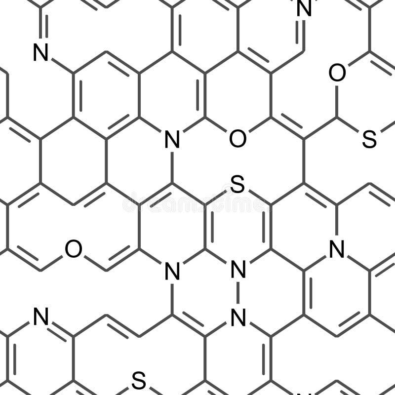 Chemische nahtlose Tapete lizenzfreie abbildung