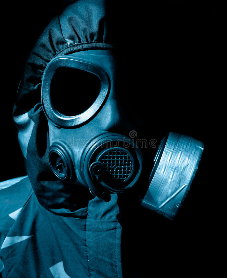Chemische oorlogvoering royalty-vrije stock fotografie