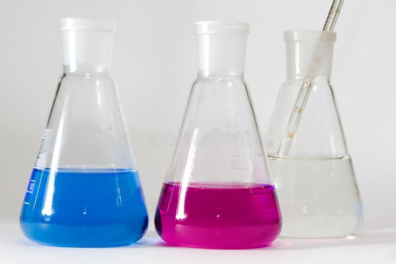Chemische oplossingen stock foto