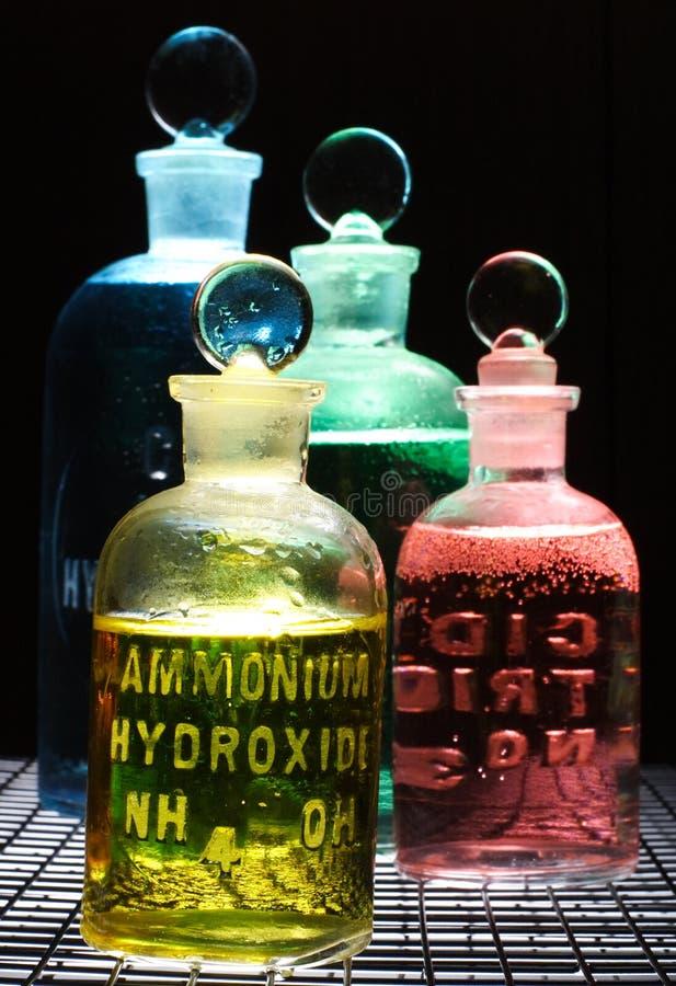 Chemische producten royalty-vrije stock fotografie