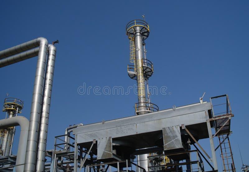 Chemische productie. stock afbeelding