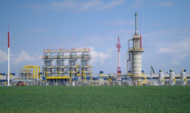 Chemische productie. stock foto