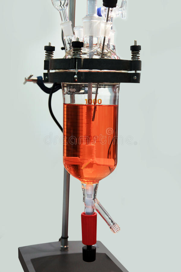 Chemische reactor stock foto