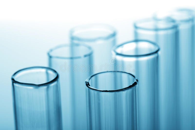 Chemische Reagenzgläser stockfotografie