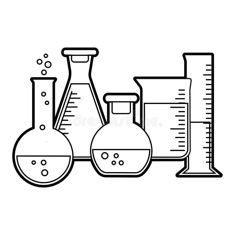 Chemische Schiffe Entwurfsdesign Auch im corel abgehobenen Betrag vektor abbildung