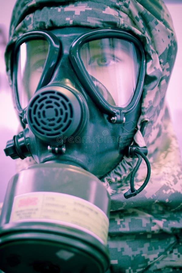 Chemische Schutzausrüstung lizenzfreies stockbild